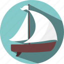 boat, get out, move, travel icon