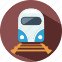 track, train, travel, vacation icon