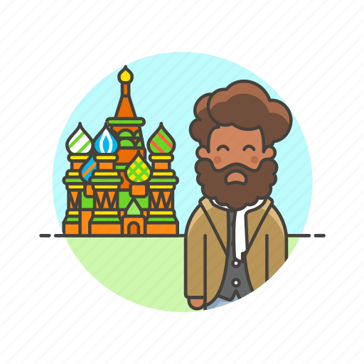 basil's, holiday, man, moscow, saint, sightseeing, travel, vacation icon