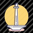 city, destination, indonesia, jakarta, monas, monument, travel