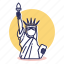 america, destination, independence, liberty, monument, travel, usa icon