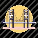 california, destination, francisco, golden, san, travel, usa icon