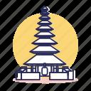 asia, bali, destination, indonesia, pura, traditional, travel icon