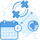 flight, schedule, transportation icon