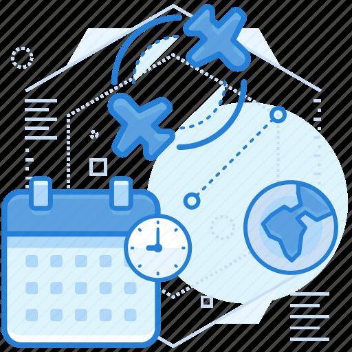 flight, schedule, transportation icon