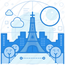 destination, france, holiday, paris icon