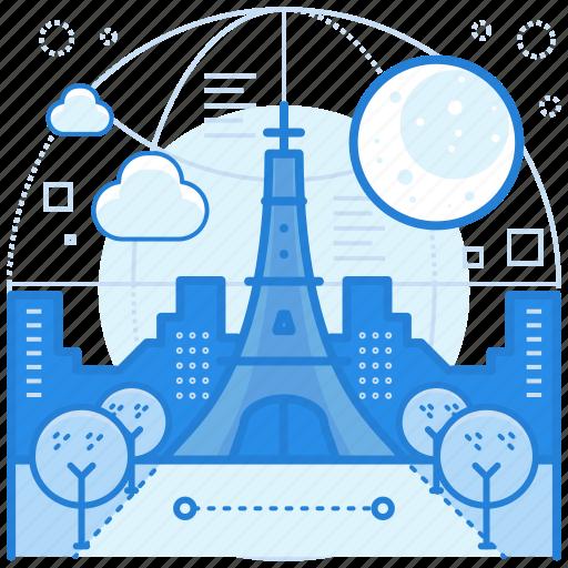destination, france, holiday, paris icon