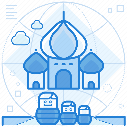 destination, holiday, russia icon