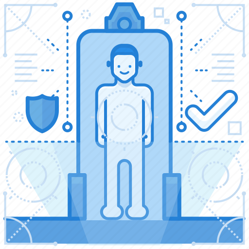 airport, scans, security icon