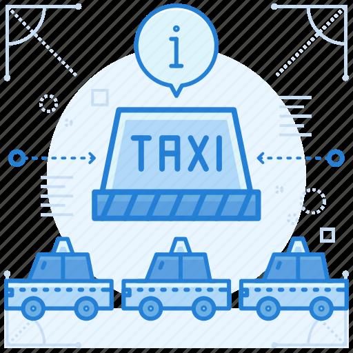 center, taxi, transportation icon