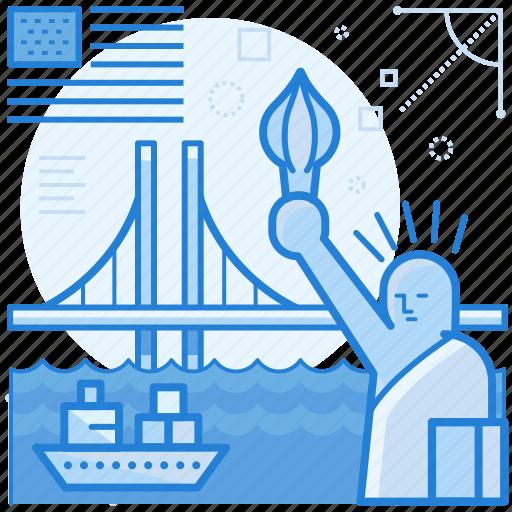 america, destination, holiday, usa icon