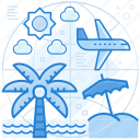 destination, holiday, vacations icon