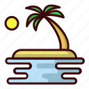 beach, holiday, island, sea icon