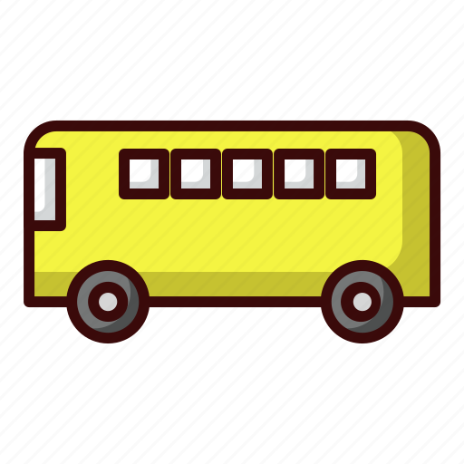 bus, bus station, school, transportation, travel icon