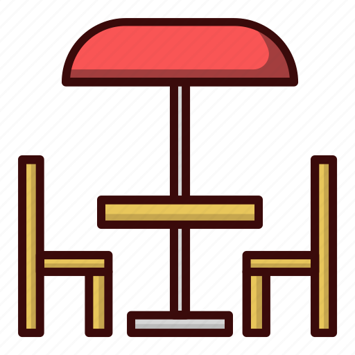 beach, chair, food, lunch, table icon