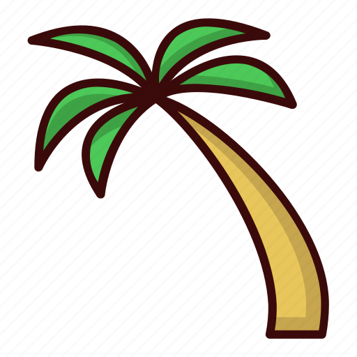 Beach, coconut, tree icon