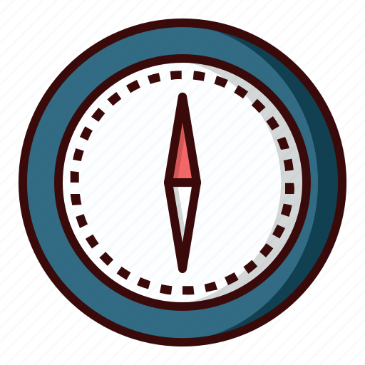 adventure, compass icon