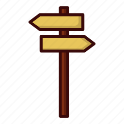 and, arrow, left, right, street icon