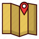 advanture, map, travel, treasure icon
