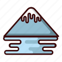 ice mount, mount, mountain, travel icon