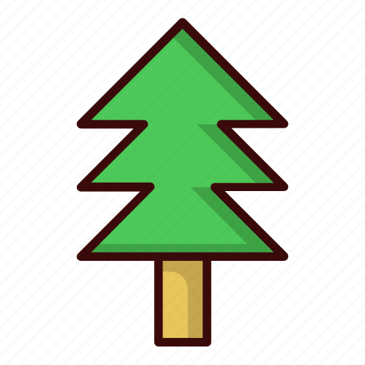 christmas, forest, natural, pine, tree icon