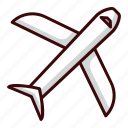 airport, fly, plane, transportation, travel icon