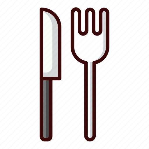food, hungry, knife, restaurant, travel icon