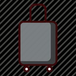 adventure, suitcase, travel icon