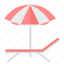 beach, holiday, holidays, rest, summer, sunset, umbrella icon