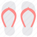 beach, holidays, slippers, summer, vacation icon