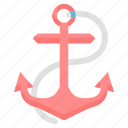 anchor, ship, sea