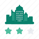 building, city, holiday, hotel, rating, star, vacation icon