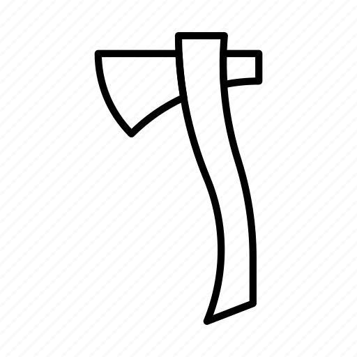 ax, axe, hatchet, tool, wood icon