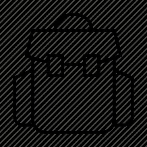 backpack, bag, rucksack, travel, traveler icon