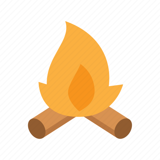 burn, camp, camping, fire, travel, vacation icon