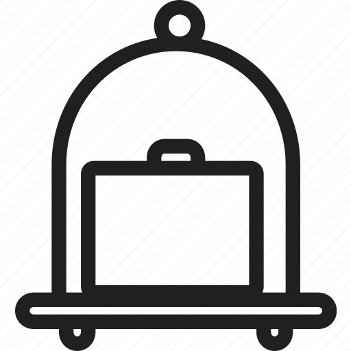 bag, briefcase, hand, luggage, suitcase, trolley, trolly icon