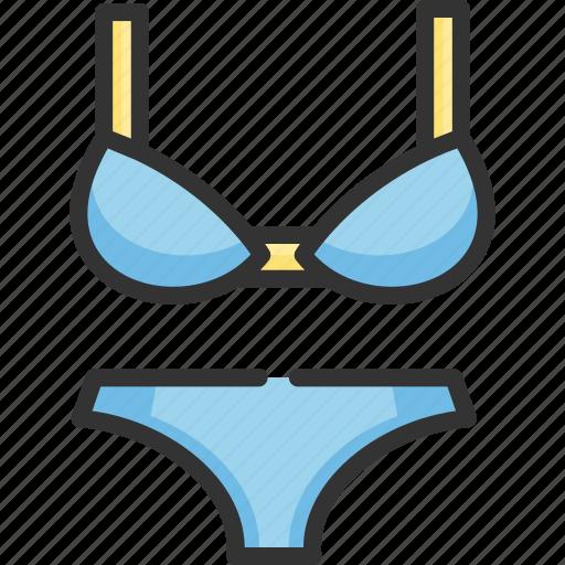 beach, bikini, bra, panty, tourism, travel, woman icon