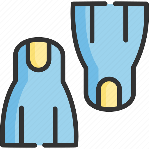 diving, flippers, sport, tool, tourism, travel, water icon