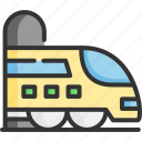 fast, tourism, train, transport, transportation, travel, vehicle icon