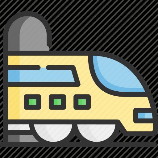 fast, tourism, train, transport, transportation, travel, vehicle icon