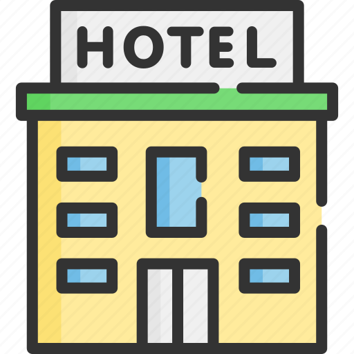 architecture, building, city, hotel, property, tourism, travel icon