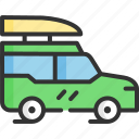 discovery, jeep, tourism, travel, traveling, vacation icon