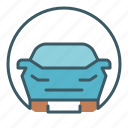 car, circle, road, traffic, transport, travel icon