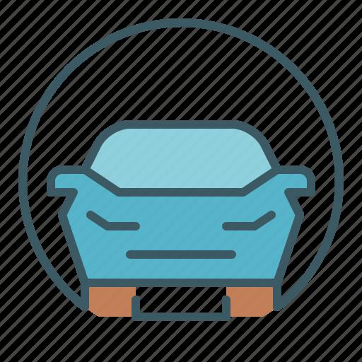 car, circle, road, traffic, transport, travel icon