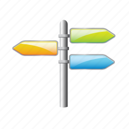 arrow, direction, location, navigation, sign icon