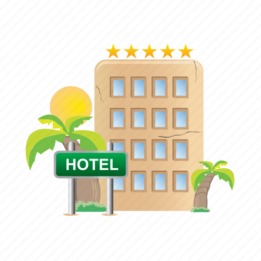Hotel, architecture, building, estate, real icon - Download on Iconfinder