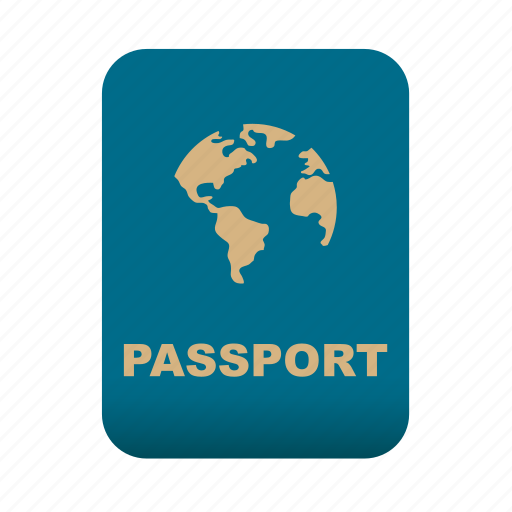 document, id, identification, passport, travel icon