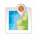 map, navigation, pin, place, world icon
