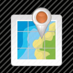 map, navigation, pin, place, world icon