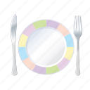 dining, knife, plate, restaurant icon